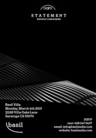 Basil Audio Naim Statement Event March 4th 2019